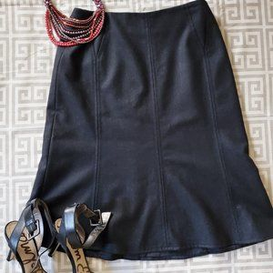 Akris Punto Black Fit and Flare Wool Skirt Sz 8
